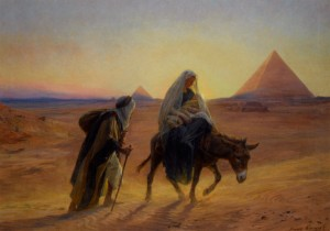 Flight into Egypt by Eugene Alexis Girardet