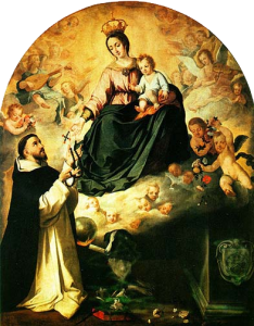 St. Dominic Receives The Rosary